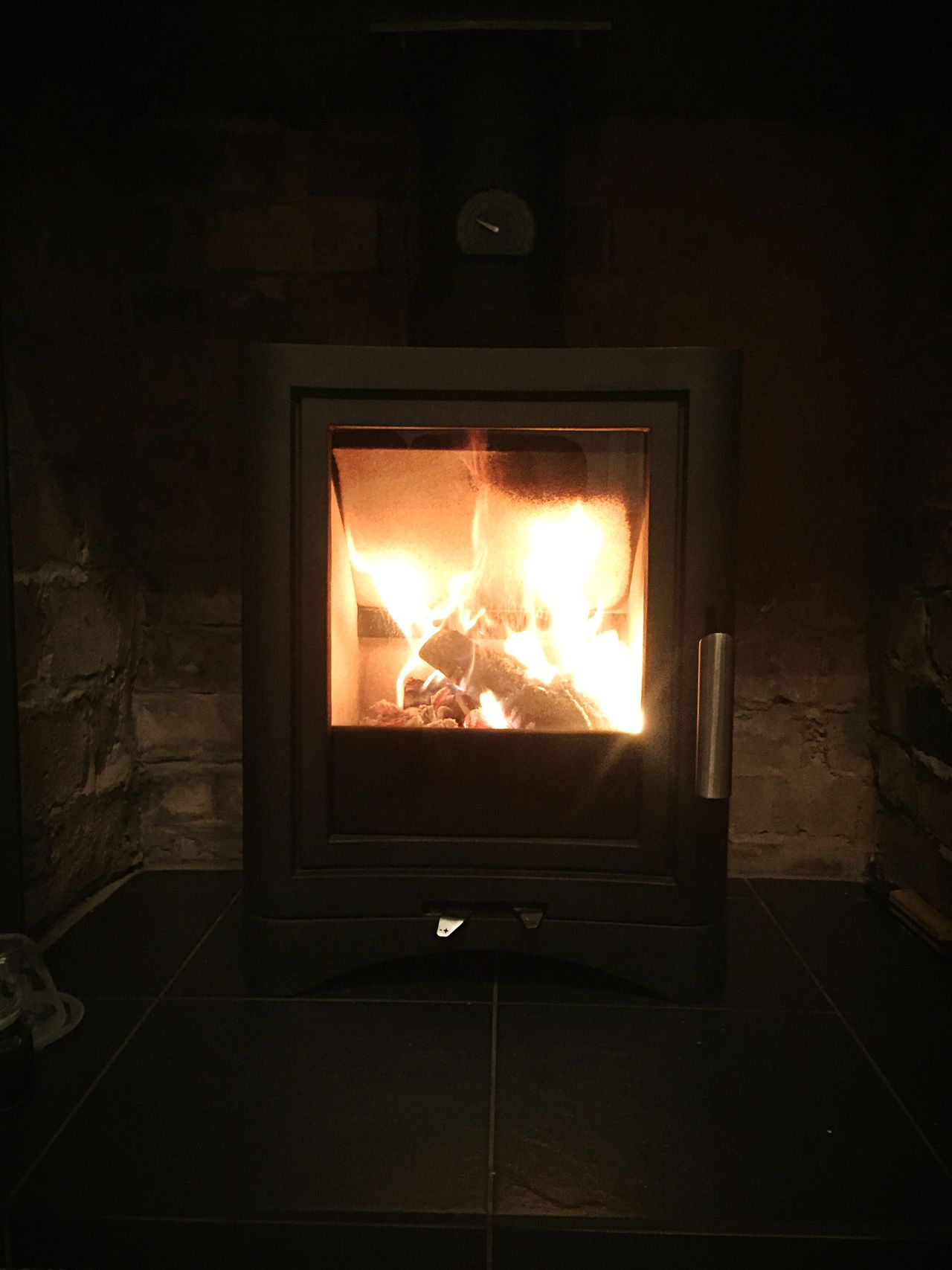 Wood burner Flame Burning Heat - Temperature No People Indoors  Day Night Warm Warmth Heat