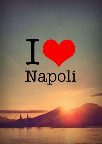 Sea Water Sunset Sky Love ArtWork Travel Italia Heart Mountain Europe Napoli Volcano Vesuvio Discover