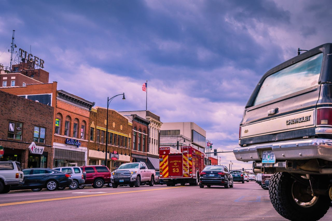 Red City Cloud - Sky Sky Travel Destinations Outdoors No People Downtown MidWest Missouri Missouriphotography