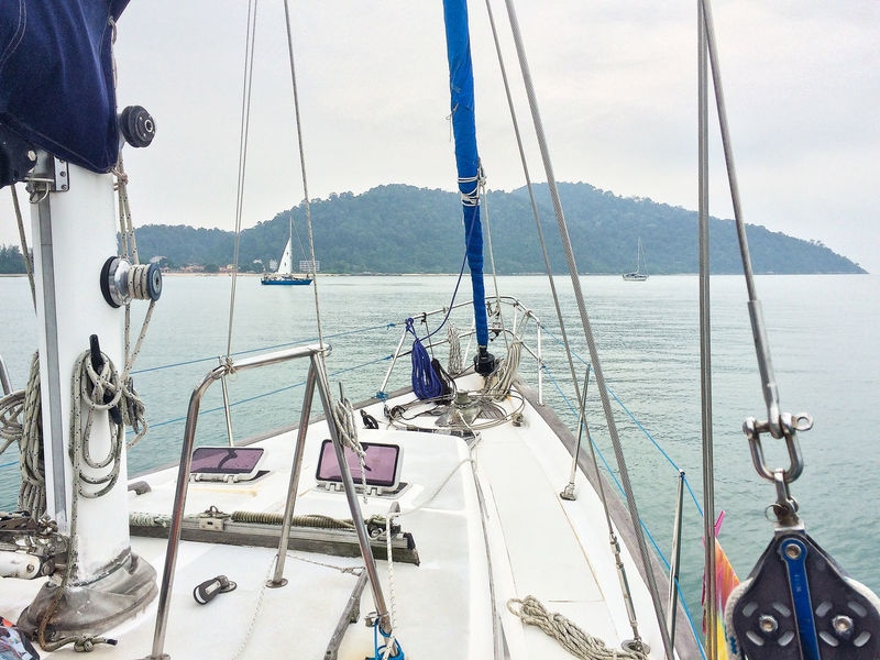 Boat Boat Deck Day Let's Go. Together. Malaysia Mode Of Transport Nautical Vessel No People Pangkor Pangkor Island Sailboat Sailing Sea Water Yacht