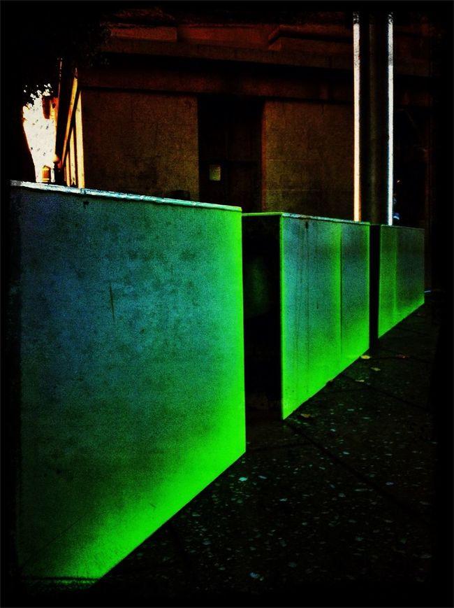 Streetart Neon Green Perspectives AMPt - Vanishing Point