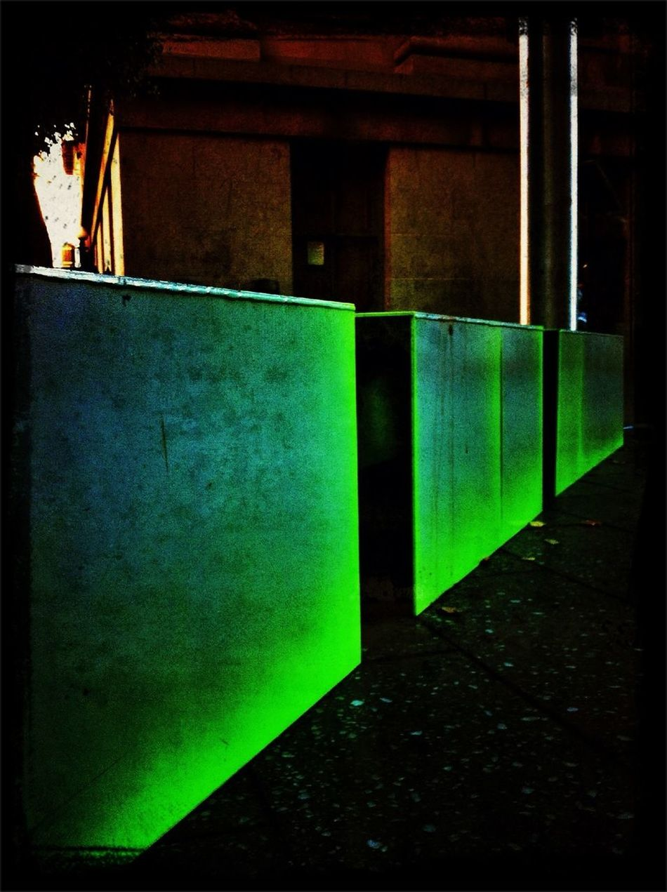 Streetart Neon Green Perspectives AMPt - Vanishing Point