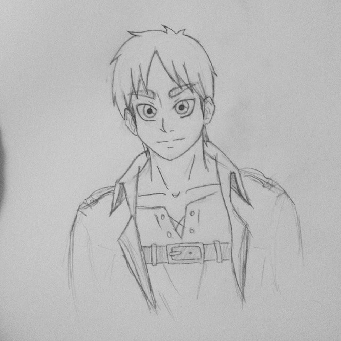 Can't stop drawing this qt (=´∇`=)Aot Snk Art Doodlebobs shingekinokyojin attackontitan erenjaeger