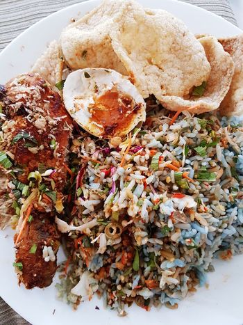 Malaysian local foods - breakfast nasi kerabu Food And Drink Food Ready-to-eat No People Indoors  Close-up Freshness