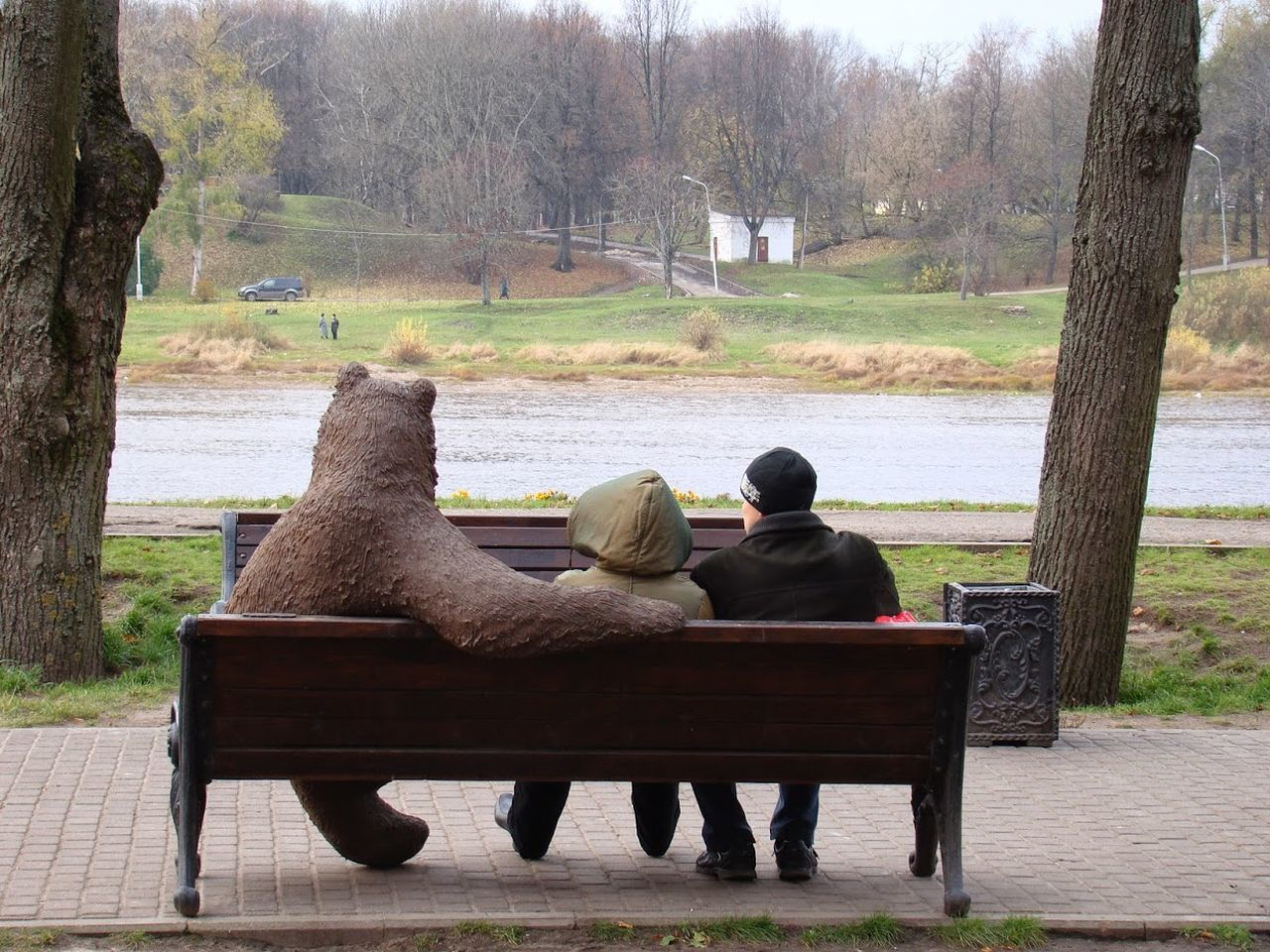 Somewhere in Russia... Outdoors Park - Man Made Space Real People Rear View Relaxation Sitting Two People Velikiy Novgorod