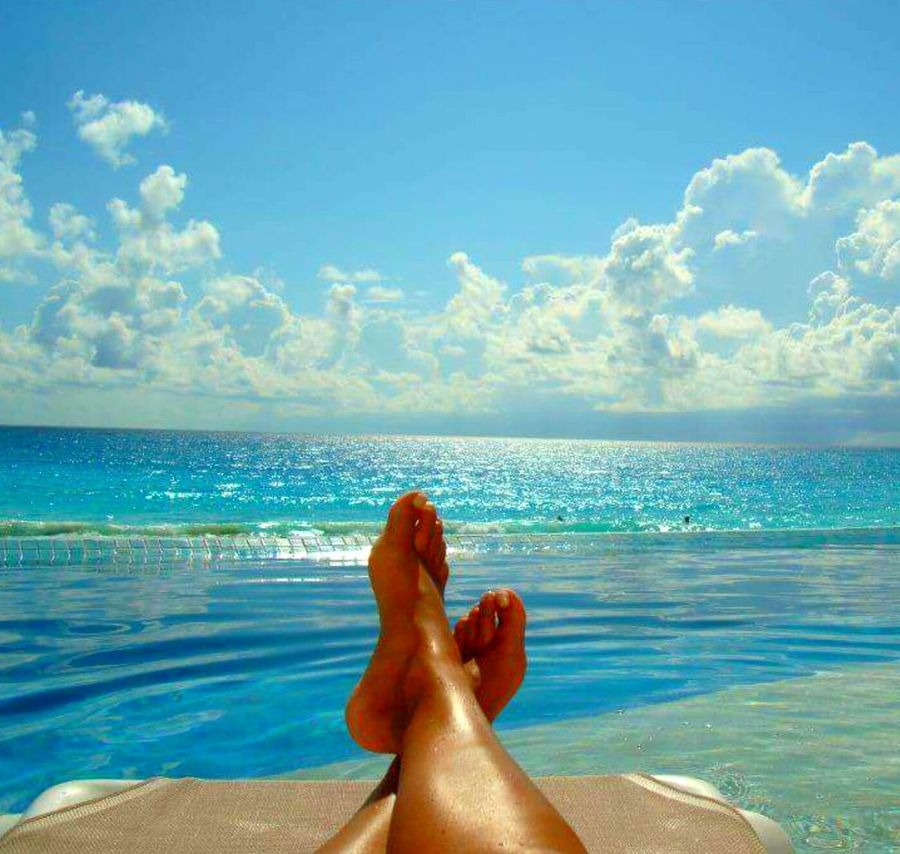 My Mexico Trip Cancun Pool Meets Ocean Poolside Ocean View Laying Out That's Me Relaxing Enjoying Life Taking Photos Outside Photography Scenery Sky And Clouds Waterview Colorful Love Warmth Vacations Beach Photography Salt Life Pools  Sunny Day Love My Life ❤ Travel Happiness