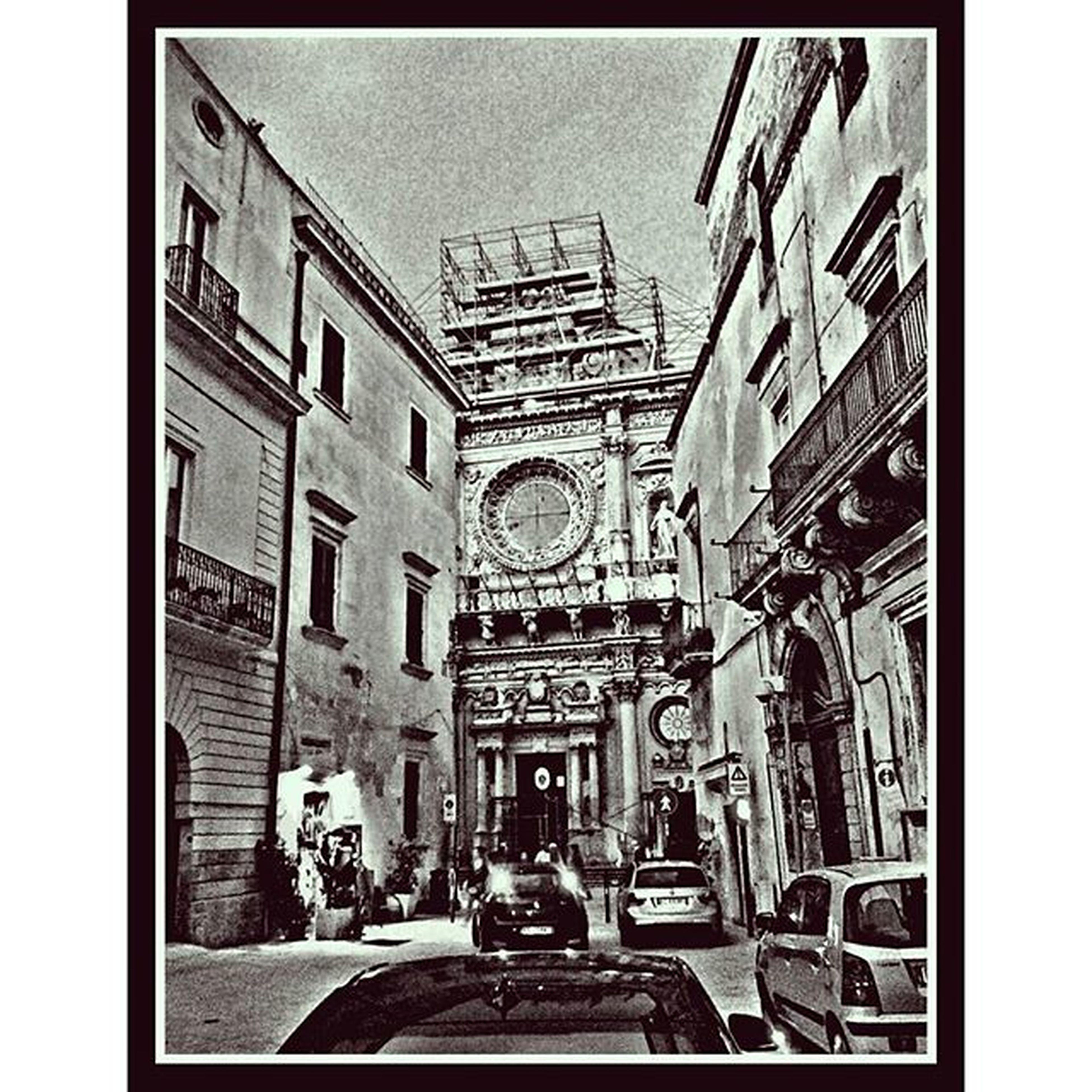 Lecce Salento Samtacroce Biancoenero Picofday Instaitalia Igersitalia Italy SouthofItaly B &wL4l Prospettiva Barocco