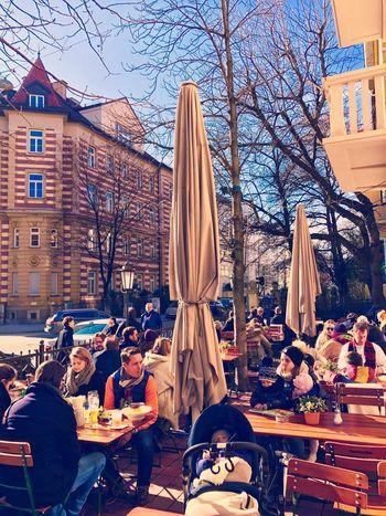 Biergarten die Zweite People Sitting Day Outdoors Biergarten Bier Time