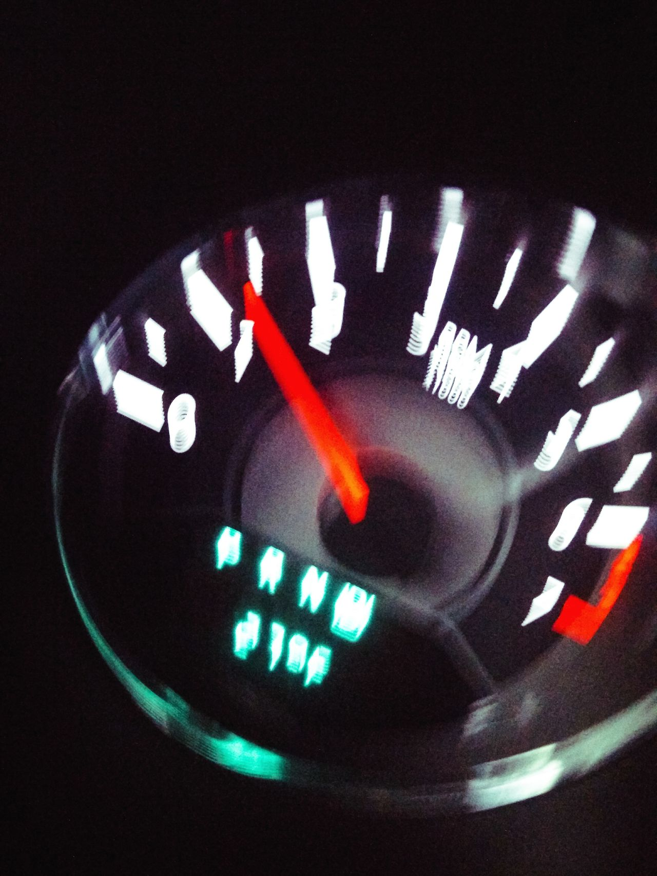 Number Close-up Speedometer Transportation Gauge Illuminated Car Interior Dashboard No People Control Panel Night Glitch