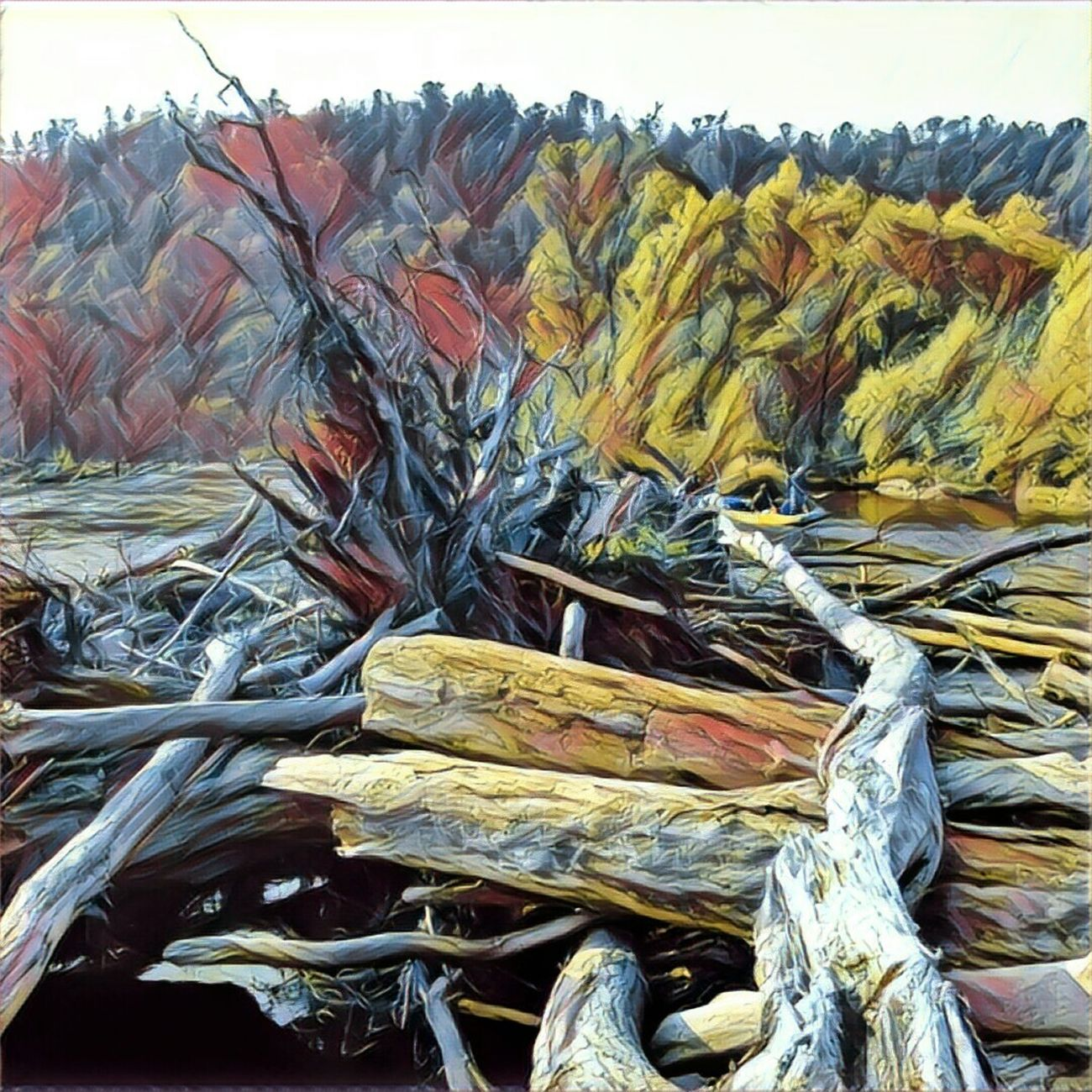 На реке Бикин Prisma Water Riverbank View Fishing River Forest Nature Prisma Art Prisma Photo Закат Landscape Prismacolor Sunset River View Riverbank Amur Amur River Amur