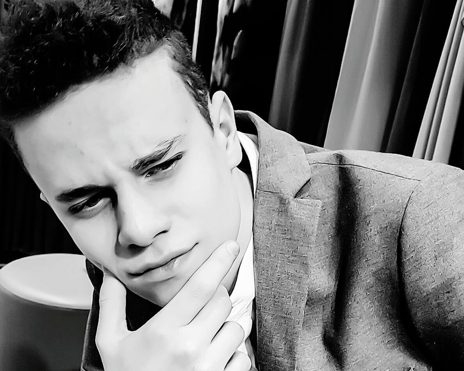 Young Adult Headshot One Person Close-up Portrait Indoors  EyeEm Gallery EyeEmBestPics EyeEm EyeEm Best Shots From My Point Of View FaceShot Faces Of EyeEm Blackandwhite Black & White Blackandwhite Photography EyeEm Man EyeEm Best Shots - Black + White EyeEm Bnw Light And Shadow Thinking OpenEdit From Where I Stand