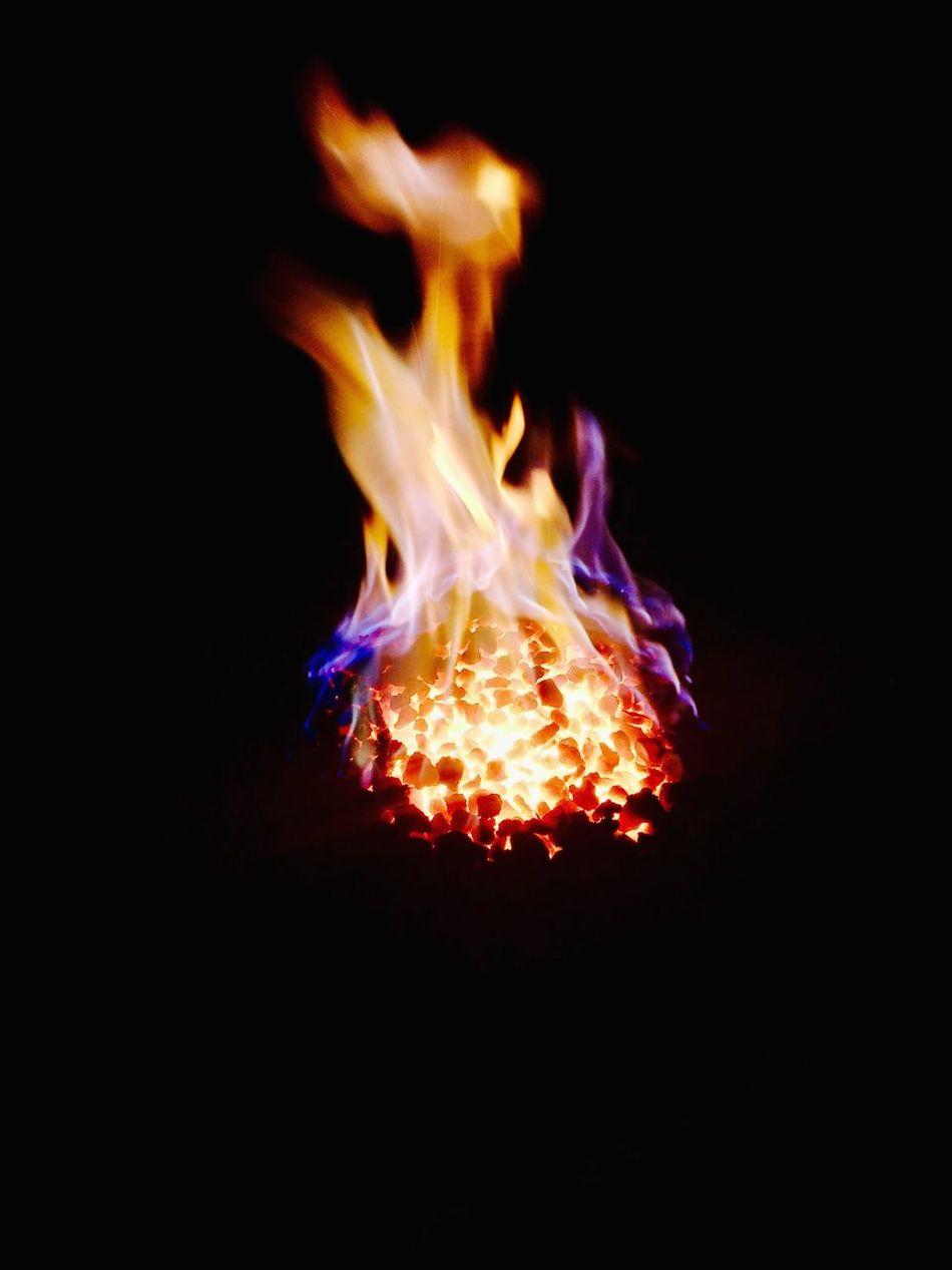 Blacksmith  Furnace Flames Burning Illuminated