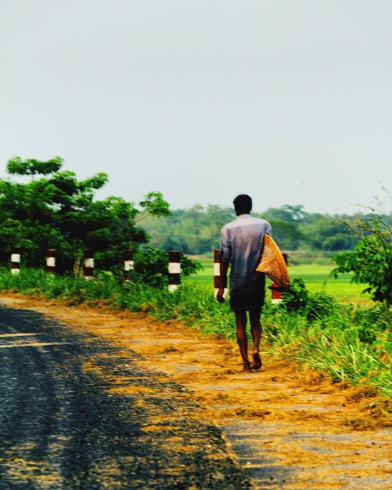 Potrait Busy Village Life Hardworkingman