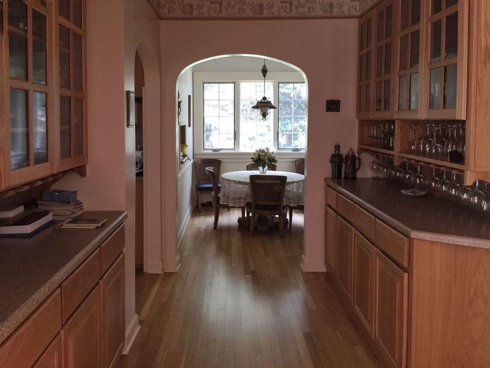 Interior Views Butler's pantry & breakfast nook Pantry Wine Glasses Nook Arched Doorway