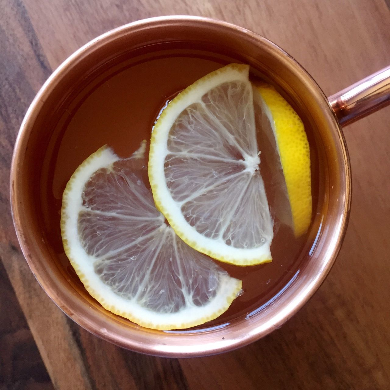View From Above Drinks Detox Water  Warm Water Warm Lemonade Lemonade Copper  Mug Copper Mug Natural Ayurveda