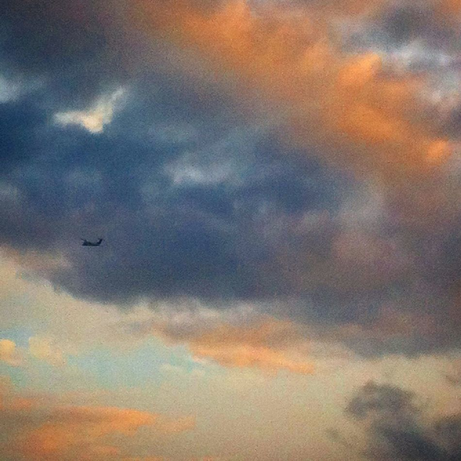 Airplane Skyandclouds  Endofday