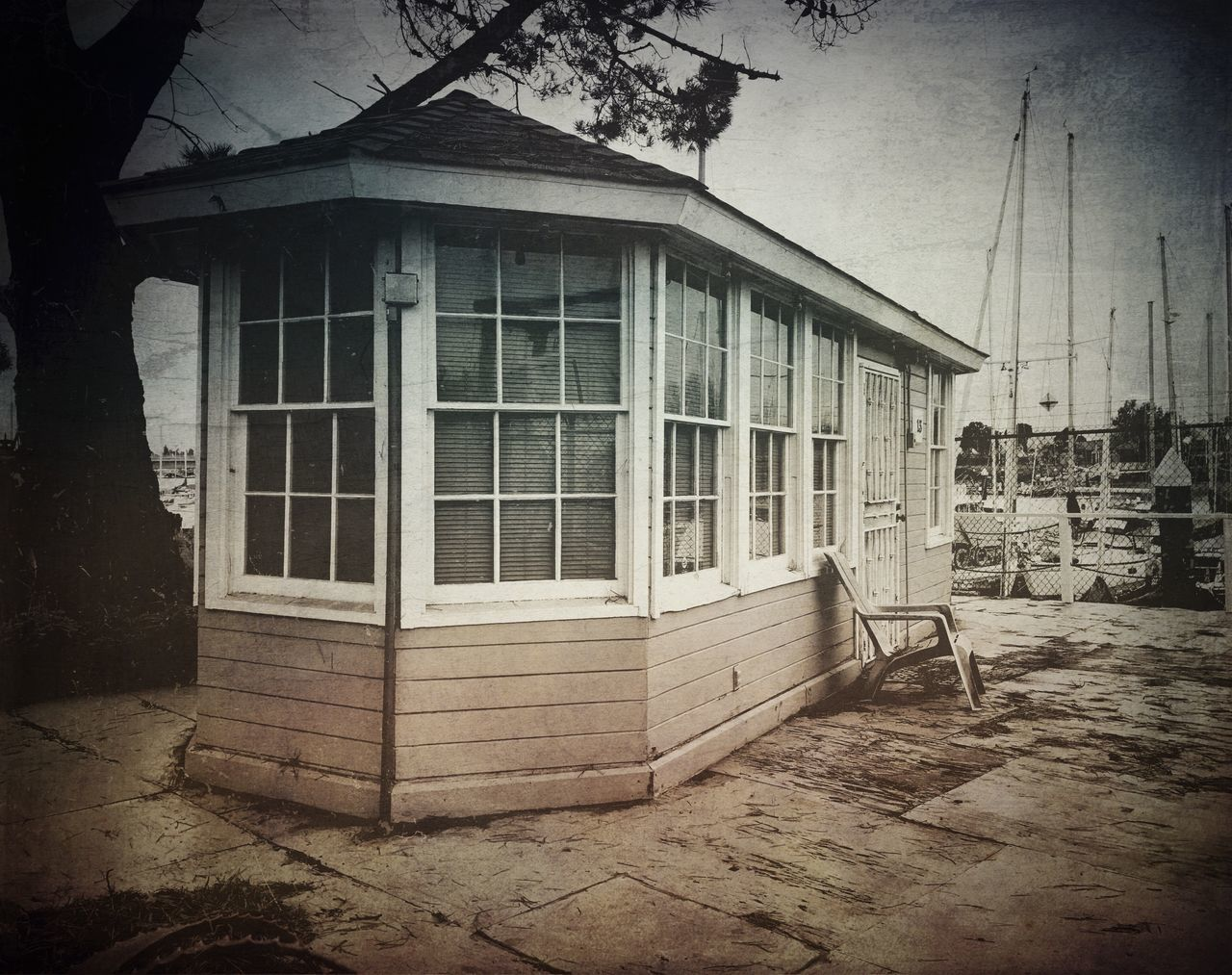 """""""Harbour Master"""" Tiny harbour master cabin at the Embarcadero Cove Public Marina in Oakland, California. Built Structure House Black And White Photography Marina Harbor Harbour Harbour View Harbour Life"""