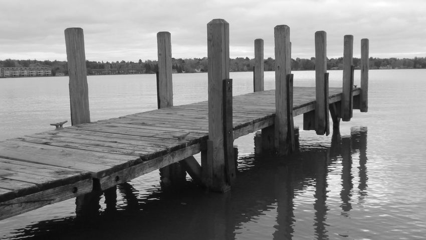 Taking Photos Enjoying Life Up Close & Personal From The Docks Black And White Photography Water Reflections Lake Cadillac Pure Michigan