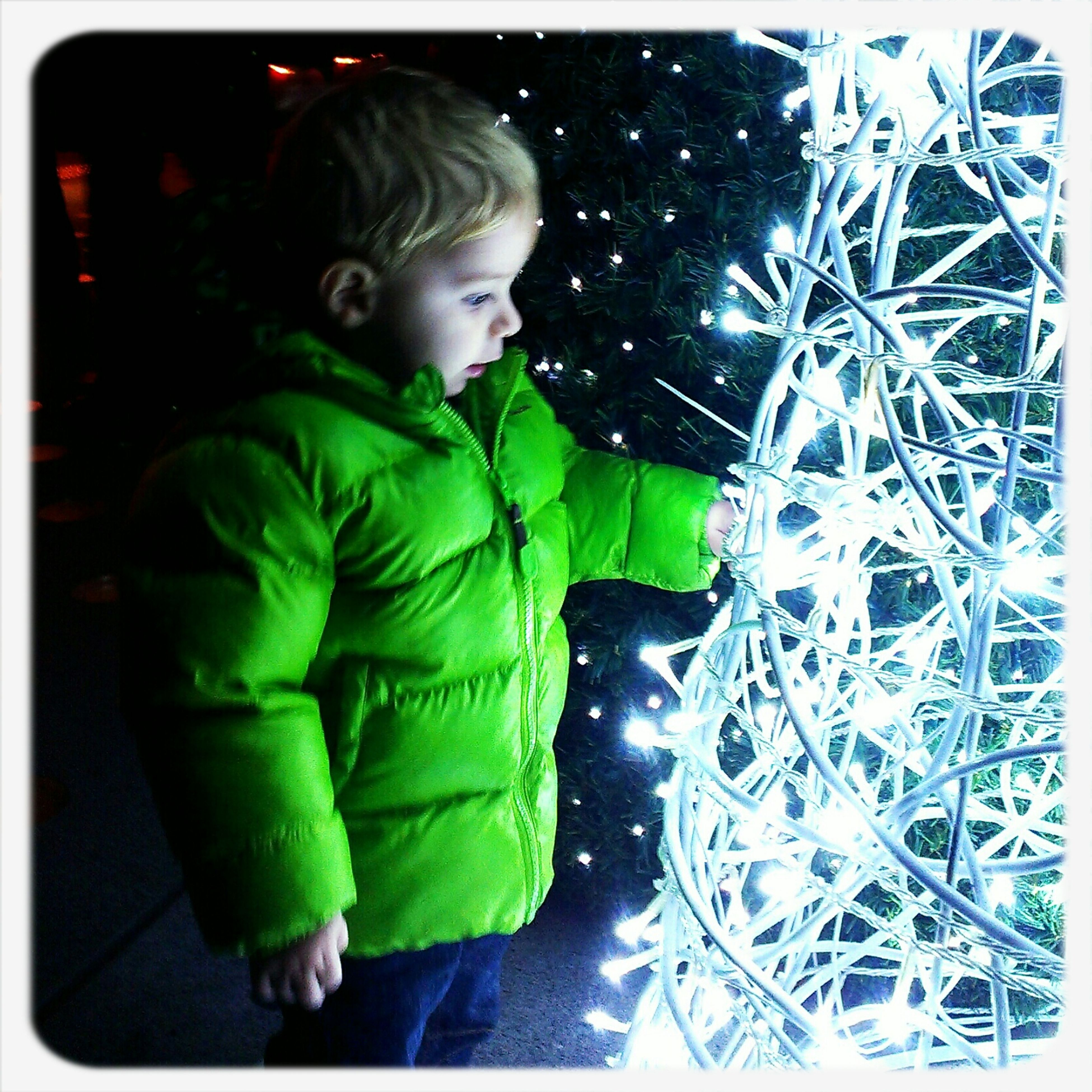 Christmas Children Nightphotography Lights