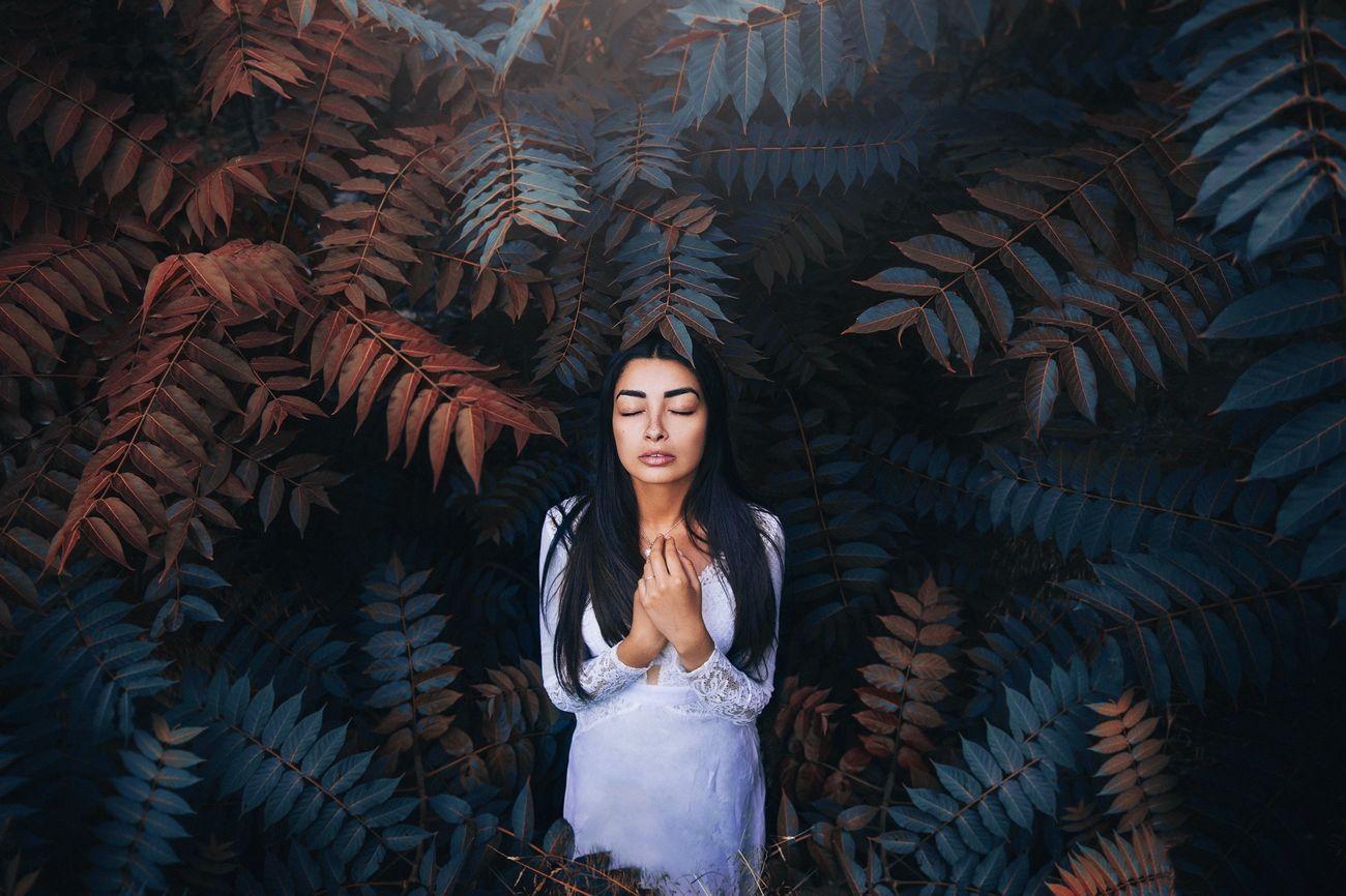 """Jungle"" Nature Forest Beautiful Girl Blue Orange Story Fine Art Photography Conceptual The Portraitist - 2016 EyeEm Awards"