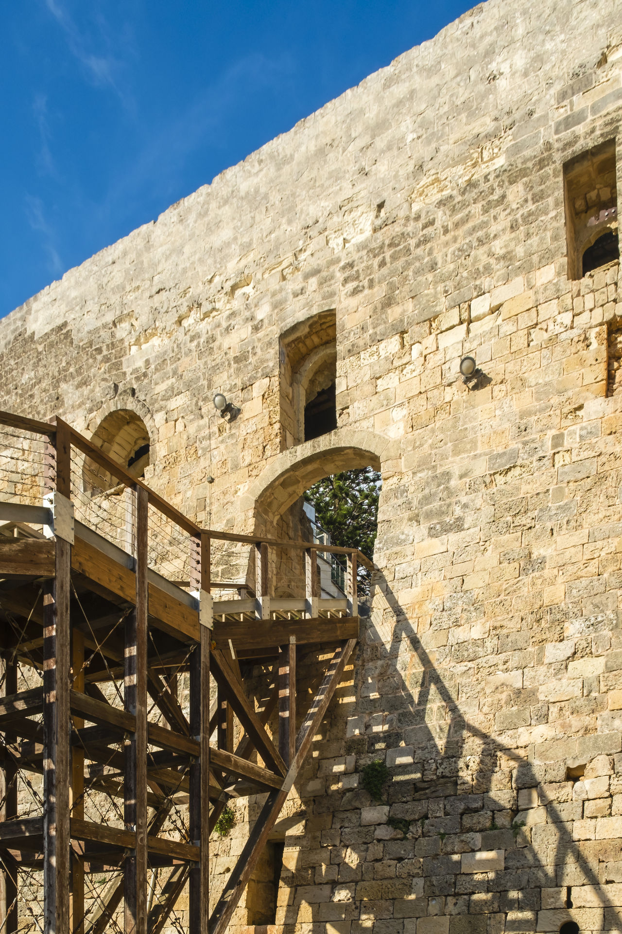Ancient Architecture Architecture Building Exterior Built Structure Castle Day Entrance Historic Historical Building No People Outdoors Railing Sky Spiral Spiral Staircase Staircase Steps And Staircases Travel Destinations Wooden Wooden Bridge