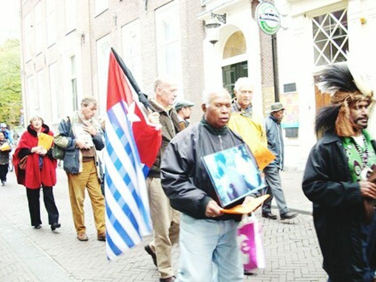 London Flag City Street City Street Patriotism West Papua Flag Benny Wenda In London