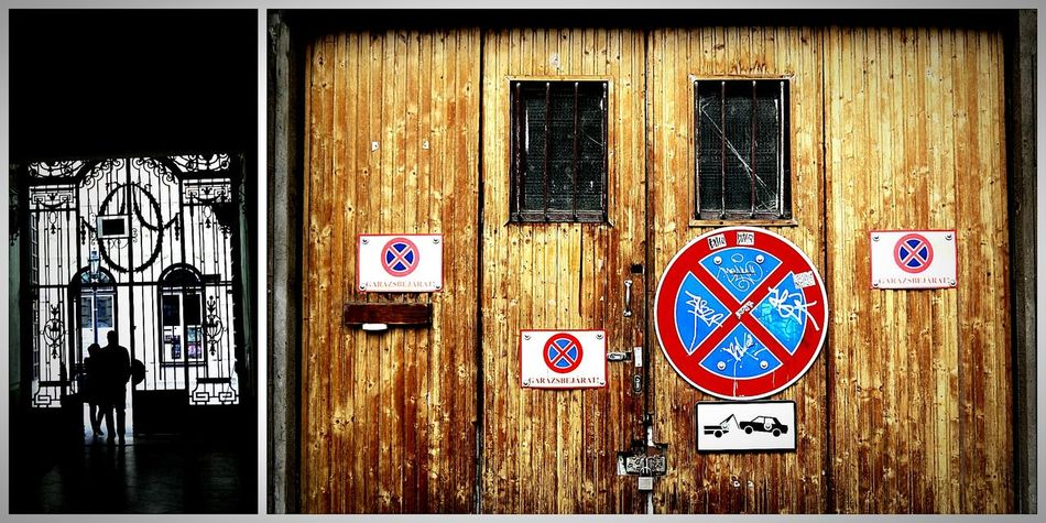 Duality BudaPest: Doors. Door Pair Siluet Hungria
