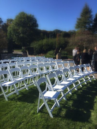 Beautifully Organized Group Of Objects Group Of Chairs People Talking People Celebrating Wedding White Chairs Long Goodbye Welcome To Black Outside Photography The Week On Eyem