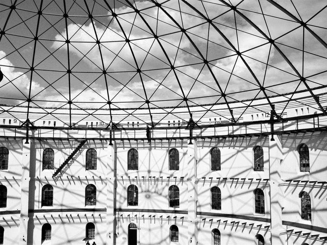 Architecture Arena Asisi Asisi Panometer Asisi Panorama Black & White Black And White Blackandwhite Building Exterior Built Structure Day Leipzig Light And Shadow Low Angle View Monochrome Monochrome Photography Outdoors Sky Pattern The City Light