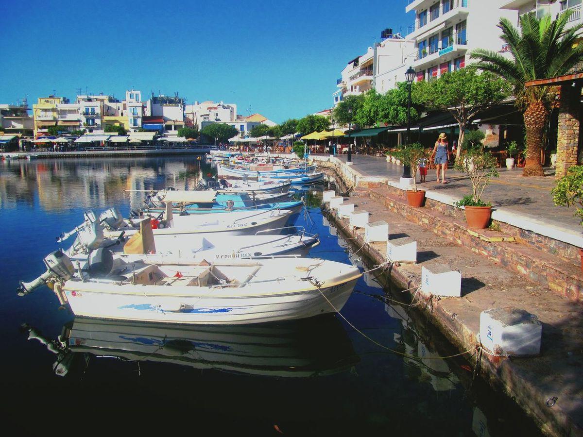 Water Boats⛵️ Great Day  Sea Sky Crete Heraklion