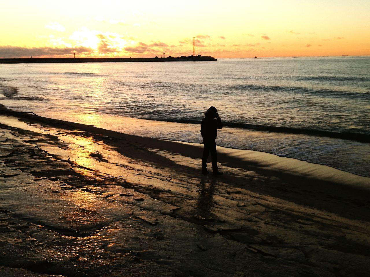 Sunset Sea Beach Ice