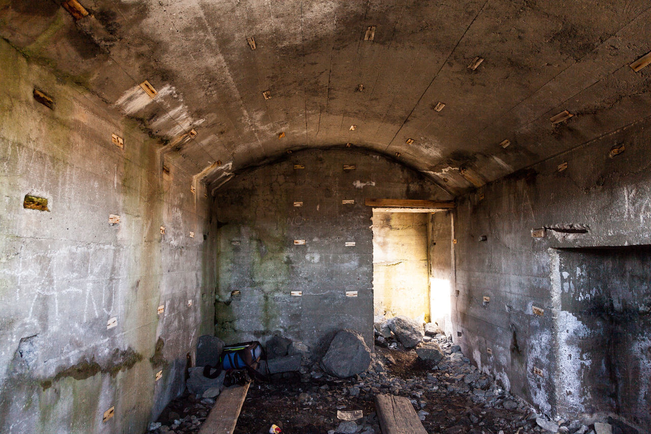 old ww2 bunker Abandoned Architecture Bunker Bunkers  Day Dirty Indoors  No People Obsolete Ww2