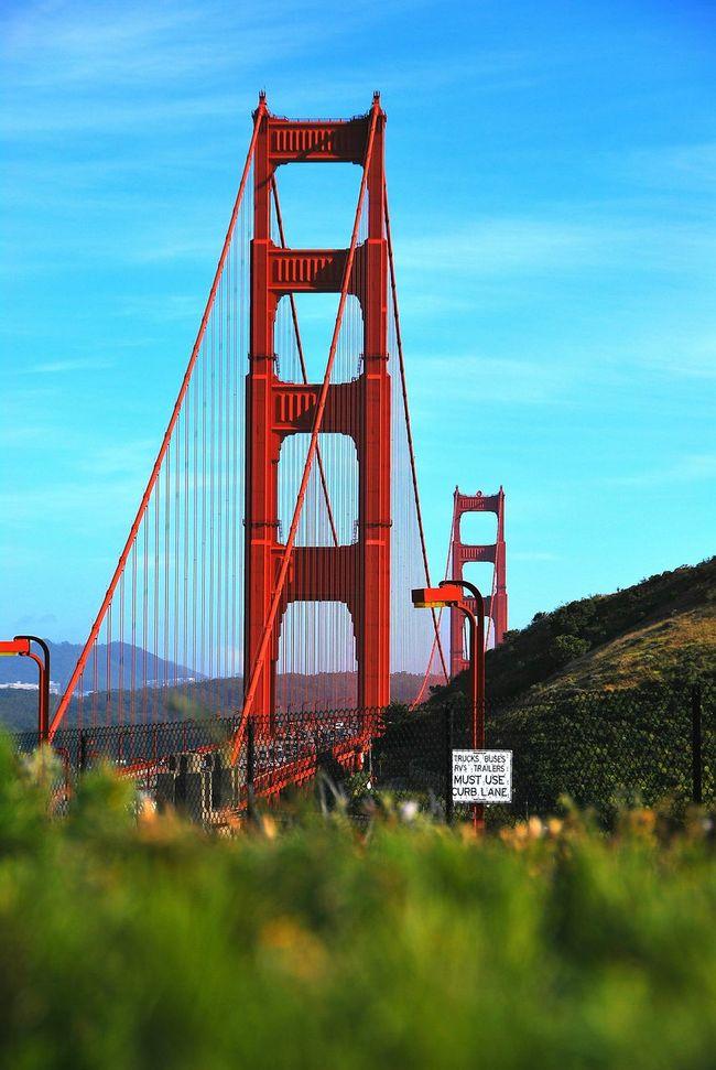 Golden bridge San Francisco Travel Destinations Travel San Francisco Golden Gate Bridge Travel Photography Street Photography Streetphotography City Life No People Bridge - Man Made Structure City