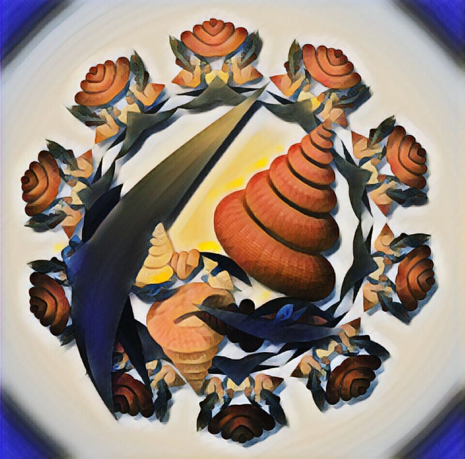 Fractal Shells Close-up No People Autumn Autumn Colors Fractal Nature Pattern Design Digital Art Burnt Orange 3D