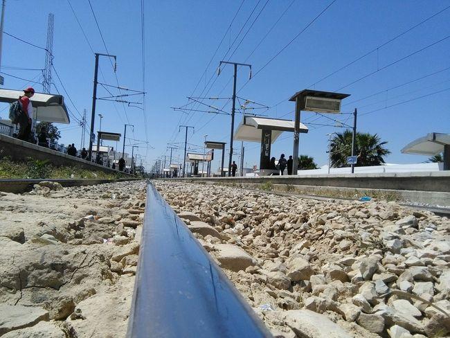 On The Rail Public Transportation Eyeem Tunisia Sur Les Chemins Sur Les Quais Railway