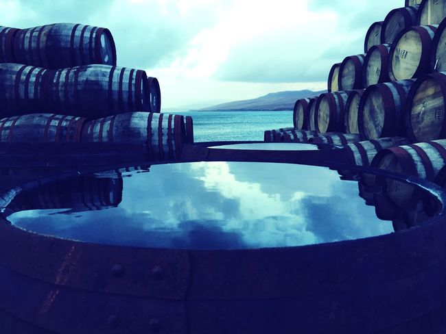 Scotch Whisky Islay Hebrides Scotland Casks Barrels Maturation Oak Barrels Reflection Sea And Sky Jura Scotch Distillery Distillery Malt Whisky Whisky Whiskey Highlands And Islands