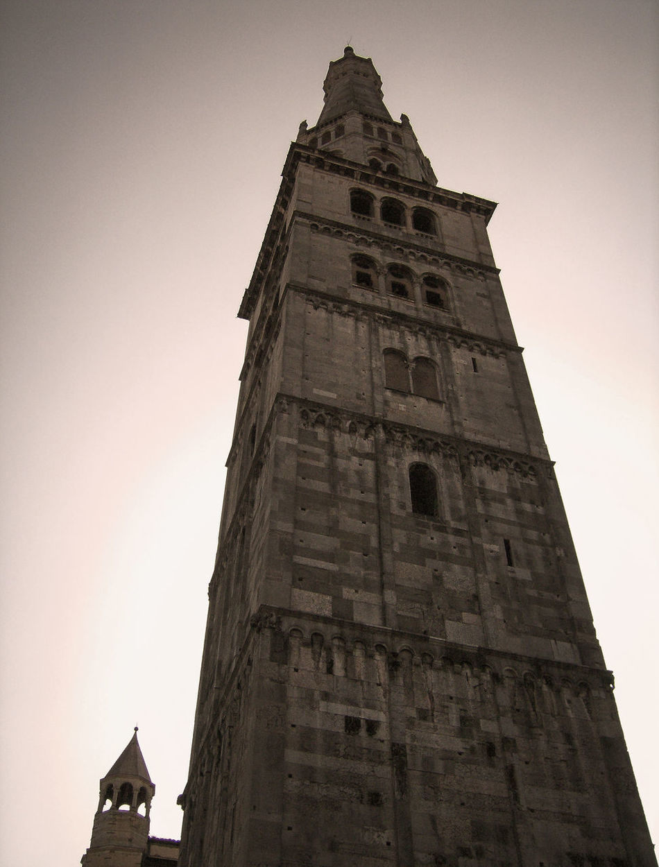 Architecture Bologna Building Exterior Built Structure Clear Sky Clock Clock Tower Day Italia Italie Italien Italy Italy❤️ Italy🇮🇹 Low Angle View Medieval No People Outdoors Place Of Worship Religion Sky Torre Tower Travel Destinations Turm