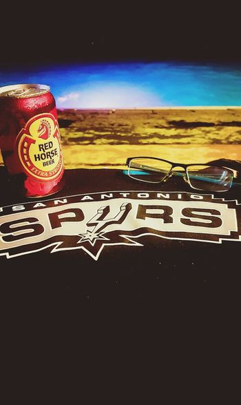 Spursnation NBA Playoffs Beer Relaxing Poolside Swimming Pool Night Swimming Eyeglass Spurs ♡ EyeEm Best Shots Outside Photography Philippines ❤️