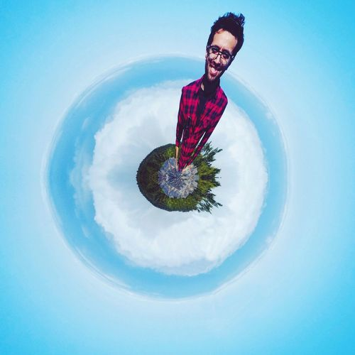 Cut And Paste Planet ElPrincipito Planet Earth Concentric Fish-eye Lens Outdoors Low Angle View Sky Cloud - Sky Day