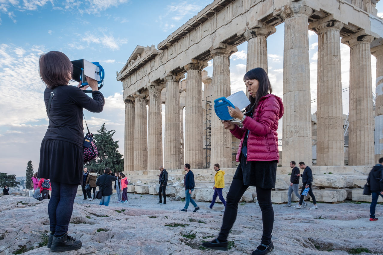 Virtual reality wins...unfortunately!!! Akropolis Athens, Greece Connection Greece Mobile Conversations Parthenon Portable Information Device Smart Phone Technology Turism Turists Wireless Technology Women