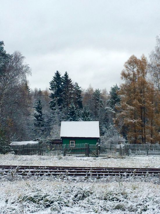 Beauty In Nature Country Life Countryside Covering Landscape Nature No People Non-urban Scene Outdoors Railroad Track Russia Scenics Season  Snow Covered Tranquility Weather Winter