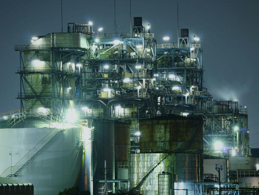 Night Illuminated Japan Nightscape Nightphotography Nightview Kawasaki Factories Factory Factory Night View Chemical Plant Kawasakicity