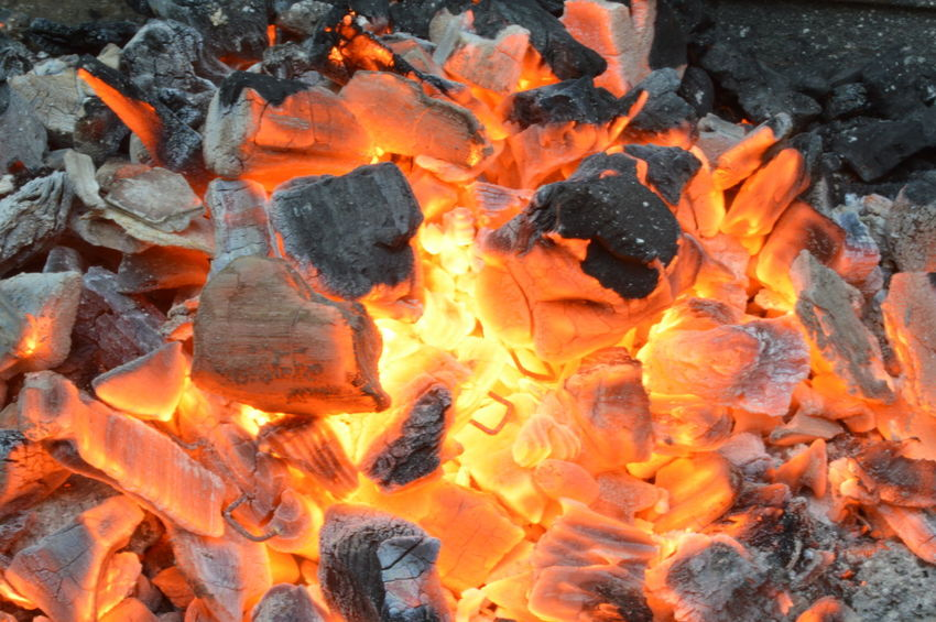 Burning Close-up Ember Fire Flame Glowing Heat Heat - Temperature Natural Pattern No People Orange Color