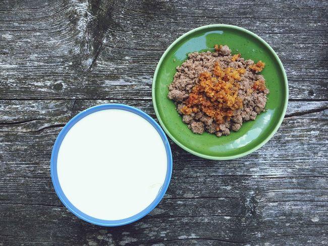 Buckwheat Polenta Milk Farm Lard Food Prime