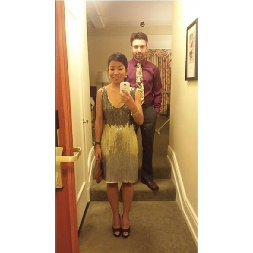 We're ready for 2014. To the Capitol Christmas party. Wish I am Katnis . Bring on Thehungergames . We're Sparkling