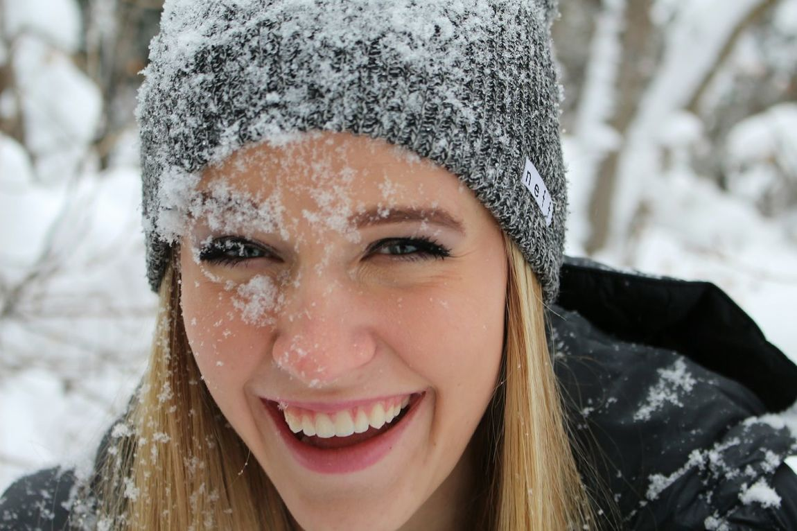 Megan accidentally tripped into the snow and got whitewashed
