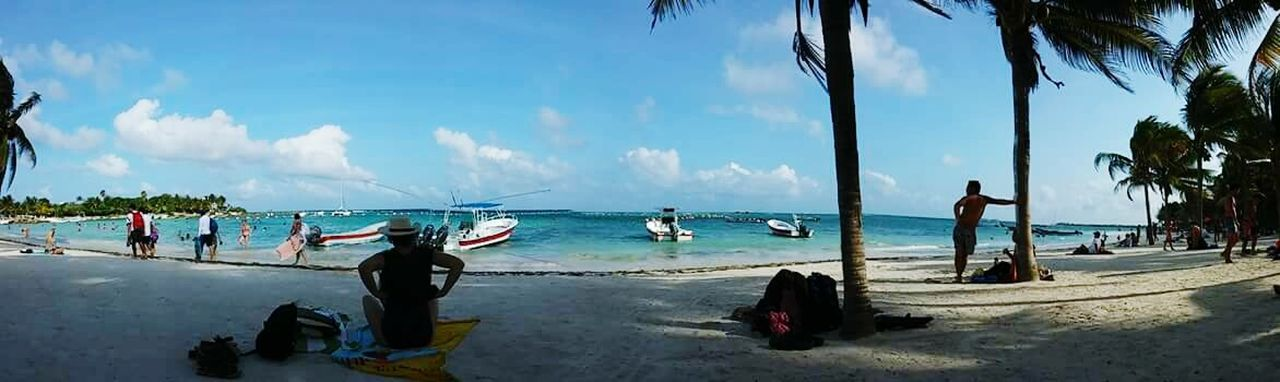 Panoramic Beachphotography Akumal Beach Finding New Frontiers Miles Away Tulum, Mexico Tulum , Rivera Maya. The Great Outdoors - 2017 EyeEm Awards Live For The Story