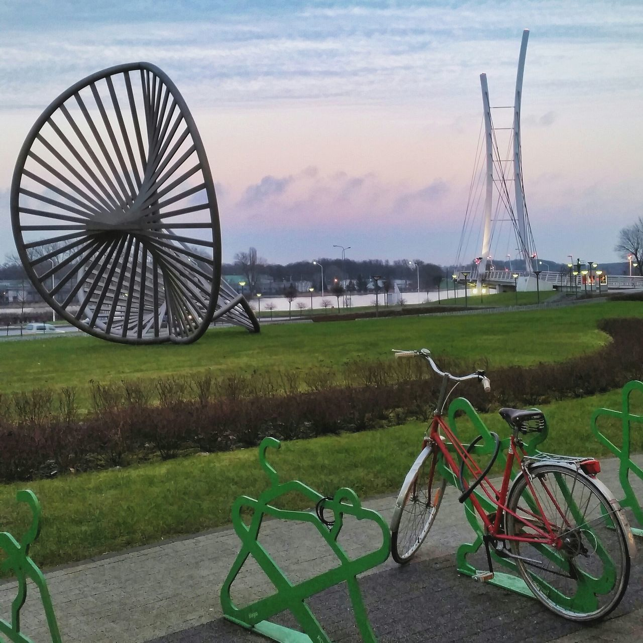 Cityscape Bike Sculpture