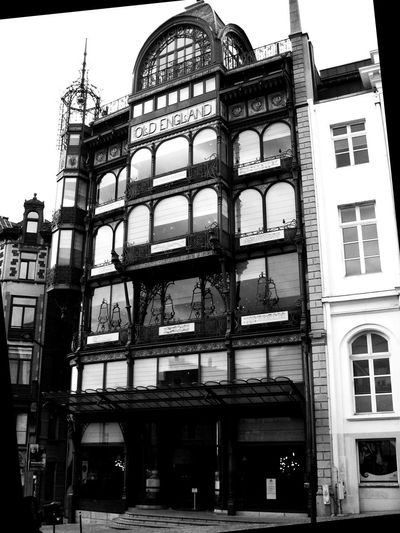 Old England Music Museum. The Musical Instruments Museum (MIM) is part of the Royal Museums for Art and History and internationally renowned for its collection of over 8,000 instruments. Architecture Art Black And White Blackandwhite Building Building Exterior City Day Low Angle View Museum Music No People Outdoors Tourism Tourist Attraction  Window Neighborhood Map