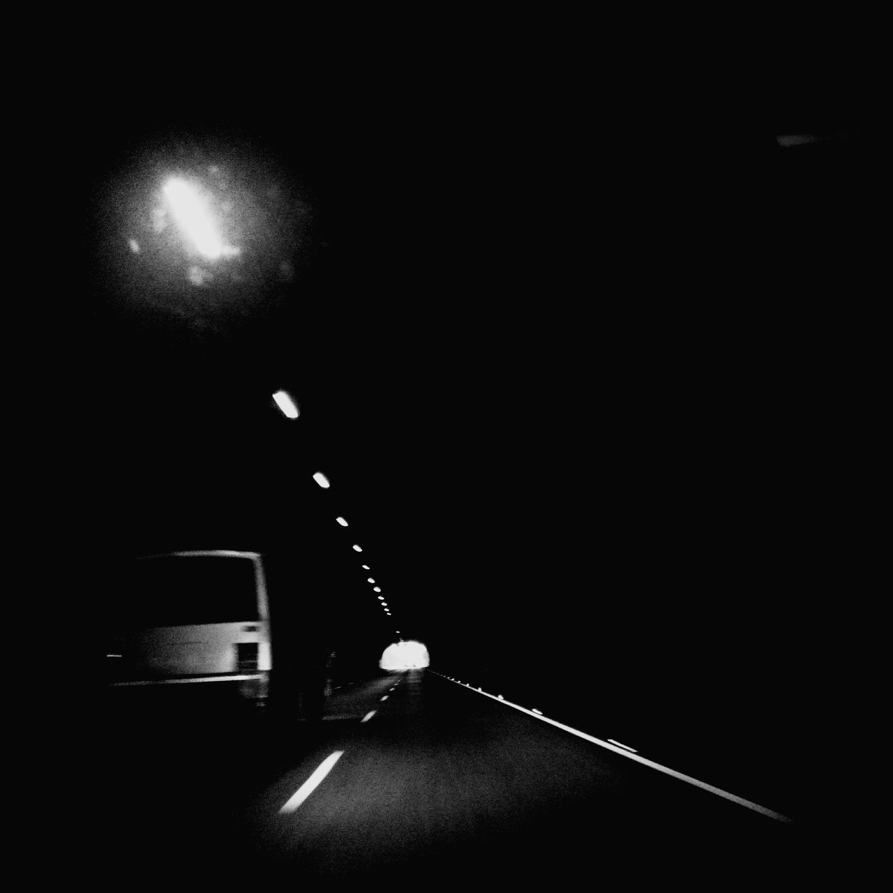 night, transportation, illuminated, mode of transport, road, land vehicle, car, no people, outdoors